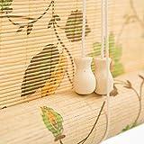 GLJJQMY Rollladenvorhang aus Bambus mit Schattierungen und Emaille-Druck, Bild-Vorhänge, UV-Schutz,...