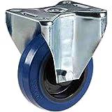 Rad mit Gummiring Superelastisch, blau, spursicher, Polyamid-Kern, montiert auf festen Blechplatten,...