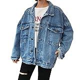 Damen Jeansjacke Sexy Lose, großes Code, Button Denim Damen Jeans Jacke Baby-Mädchen Jeansjacke...