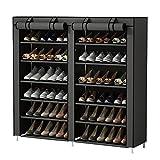 UDEAR 7 Schicht Staubdichtes Schuhablage Schuhregal Schuhschrank für ca. 36 Paar Schuhe Grau