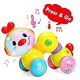 TINOTEEN Baby Toys, Kleinkind Musikalisches Krabbeln Raupenspielzeug für Babys Kleinkinder 6 9 12...