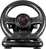 Speedlink BLACK BOLT Racing Wheel - USB-Gaming-Lenkrad für PC/Computer - Pedale für Gas und...