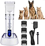 Haarschneider Dog Grooming Clippers for Haustiere, beste Cordless Hund Clippers Low Noise,...