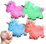 ZaxiDeel Einhorn Stress Ball 4 STK. Antistressball Fidget Toy Bruchfest Knetball für Kinder ADHD,...