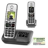 Gigaset Family mit Anrufbeantworter - 2 schnurlose Telefone mit groem, farbigem Display und hoher...