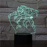 Nachtlicht Sohn Ji Menschen Illusion Tischlampe Farbwechsel Action Charakter Weihnachten...