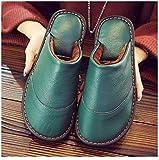 Nwarmsouth Pantoffeln für Drinnen und Draußen,Home warme Lederschuhe, rutschfeste Baumwollschuhe...