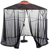 Outdoor-Regenschirm im Freien Garten-Sonnenschirm Tisch Schirm Sonnenschirm Moskitonetz-Abdeckung...