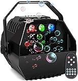 AONCO Mini Seifenblasen Maschine with RGB Lichter, Starker Ausstoß, Tragbare Seifenblasenmaschine...