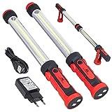 Maclean MCE230 COB LED XXL 2x Werkstattlampe Arbeitslampe Arbeitsleuchte Handlampe Magnet Haken Dual...