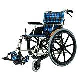 LBYMYB Rollstuhl, Rollstuhl, Rollstuhl, leicht, zusammenklappbar, Aluminiumlegierung,...