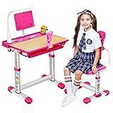 WFDA Kinderschreibtisch und Stuhlsatz Studie Tisch und Stuhl Set Kombination Kinderschreibtische...