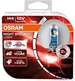 Osram Night Breaker Laser H4 next Generation, +150% mehr Helligkeit, Halogen-Scheinwerferlampe,...