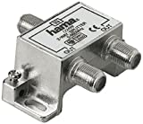 Hama 75122496 - Koaxialstecker (Coax, 2 x Coax, Male Connector/Female Connector, 5-862 MHz, 4 dB,...