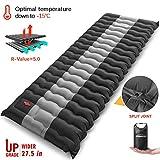 Overmont Camping Isomatte Luftmatratze Aufblasbar 12cm Dick Selbstaufblasbare Isomatte mit...