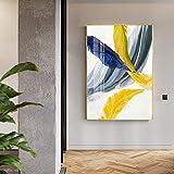 Chitty Lebensechte Feder abstrakte Muster Malerei, nordischen Stil, Veranda/Interieur Gemälde, Gold...