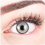 """Sehr stark deckende und natürliche graue Kontaktlinsen SILIKON COMFORT NEUHEIT farbig """"Mirel..."""