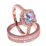 UINGKID Ring Einfach Herrlich großzügig Kreativ Diamant Zirkon Männer und Frauen Ring Zubehör...