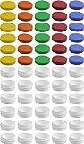 30 Salbendöschen, Creme-döschen, Salbenkruke flach, 12ml Inhalt mit farbigen Deckeln - MADE IN...