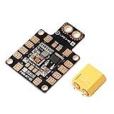 Haudang PDB XT60 Stromverteiler BEC 5V 2A 12V 0.5A mit XT60 Stecker Fuer DIY Quadcopter Ausgang...