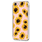 20niay Blume und fließender Sand für für iPhone 7 Case, Hülle Compatible with iphone 7, Silikon...