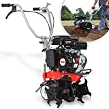 HECHT gartenfräse Benzin – 43 cm Arbeitsbreite – 4-Takt Motor – 24 Messer – Motorhacke –...