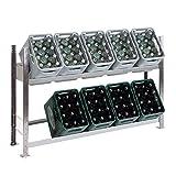 Getränkekistenregal Kastenständer 1000 x 1560 x 336 mm, verzinkt, 2 Ebenen, für bis zu 10...