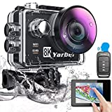 Yarber AR01 8K 20MP/ 4K 60 fps Action Cam, Digitale Actionkamera mit WiFi Touchscreen, EIS 40M...