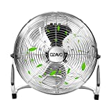 OZAVO Standventilator, Metall Windmaschine mit 3 Laufgeschwindigkeiten, Power Bodenventilator,...