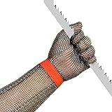 AGYH Schnittfeste Handschuhe 304L Anti-Cut-Stahlhandschuhe, Sicherheitshandschuhe Für Angel- Und...