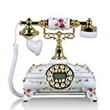 Wjvnbah Schnurgebundene Festnetztelefone Im europischen Stil der lndlichen Wind Telefon Home Phone...