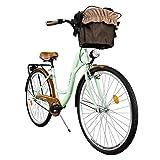 Milord. Komfort Fahrrad mit Korb, Hollandrad, Damenfahrrad, 1-Gang, Mint Grn, 28 Zoll
