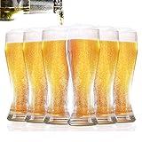 Homewit Weizenbiergläser 6-teilig Set | 330 ml Bierglas(0,5 Liter Glas für 330 ml Bier) | Ideal...