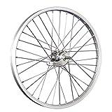 Taylor-Wheels 20 Zoll Hinterrad Laufrad Büchel Alufelge/Velosteel Alu Rücktrittnabe - Silber