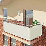BALCONIO Balkon Sichtschutz wasserabweisend Balkonbespannung Balkonabdeckung fr Balkon Terrasse aus...
