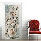 ZKAMANG Pink Rose Traufkleber, Wasserdichtes Selbstklebendes Wandbild Fr Mdchenzimmer 77  200 cm /...