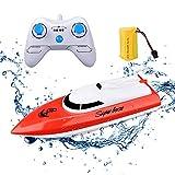 KINGBOT Rc Boot Fernbedienung Boot für Pools & Seen 2,4 GHz 10 km / h Hochgeschwindigkeitsradio...