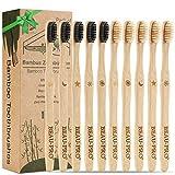 Bambus Zahnbürsten Holzzahnbürste für Erwachsene - 10er Pack Nachhaltige Zahnbürste Bambus,...