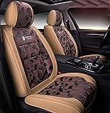 SKSNBQY Autositzbezüge Sitzbezug für 5-Sitzer-Autos, komplettes Set aus PU-Leder/Eisseide....