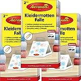 AEROXON Kleidermottenfalle - Dreierpack 3x2 = 6 Stck