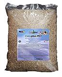 Canaplus PET 12 Liter - Hanfstreu für Hamster, Knöchel, Muscheln und Nager, hohe Saugfähigkeit,...