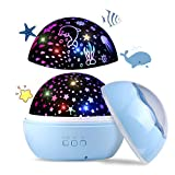 Upgrow LED Sternenhimmel Projektor, Baby Nachtlicht, 2 in 1 Ozeanwelt Projektionslampe mit USB...