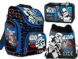 3-teiliges Schulranzenset Star Wars Schulranzen, 2-fache gefüllte Federtasche, Schuhbeutel Jungen...