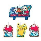 Party Pail Pokemon Geburtstagskerzen-Set, mehrfarbig, 4 Stück, Exclusive Edition