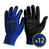 S&R Schutzhandschuhe 12 Paar aus Nylonfaser mit Polyurethanbeschichtung, geeignet für den privaten...