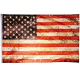 Flaggenking USA Vintage Retro - Stars und Stripes - wetterfest Fahne/Flagge, Mehrfarbig, 150 x 90 x...