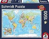 Schmidt Spiele Puzzle 58289 Die Welt, 1500 Teile Puzzle