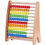 Jacootoys Hölzerne Abakus Zählrahmen Lernspielzeug Regenbogenperlen Mathe Spiele Montessori...