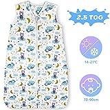 Lictin Schlafsack Baby Winterschlafsack 2.5 Tog Babyschlafsack Einstellbar 70-90cm für Neugeborene...