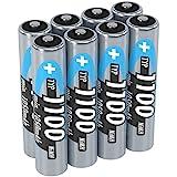 ANSMANN Akku AAA Typ 1100 mAh (min. 1050 mAh) NiMH 1,2 V (8 Stück) - Micro AAA Batterien...